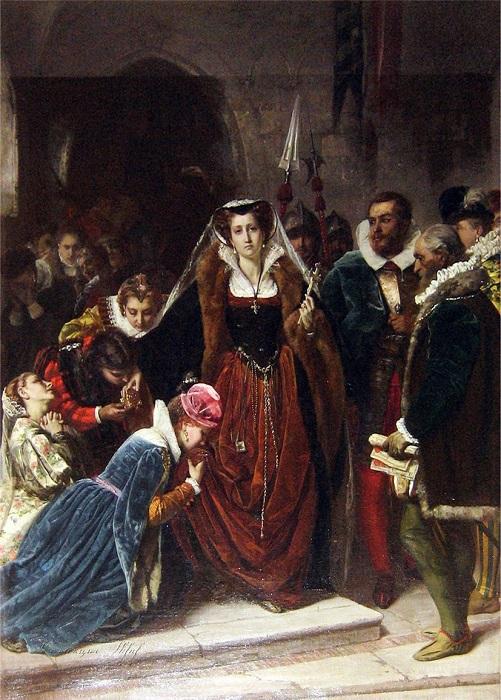 Марию Стюарт обезглавили по приказу тёти.