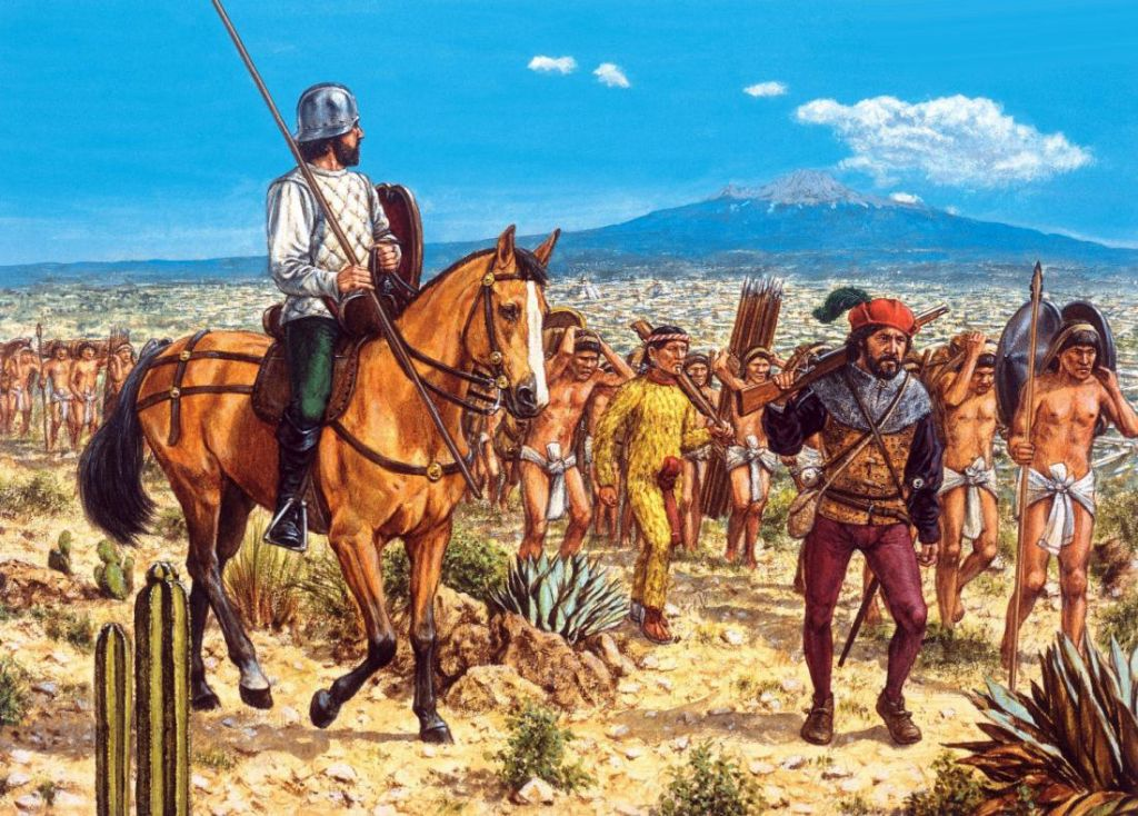 a discussion on how a small spanish army conquered the aztecs The aztecs and incas numbered in the millions, yet were defeated by spanish forces numbering in the hundreds a heavily armored conquistador could slay dozens of foes in a single engagement without receiving a serious wound.
